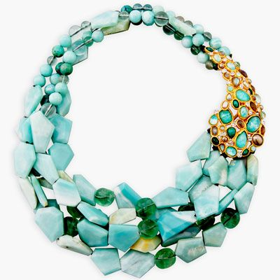 Alexis Bittar Kiwi Cluster Multi-Strand Necklace available at Neiman Marcus Bal Harbour  ht
