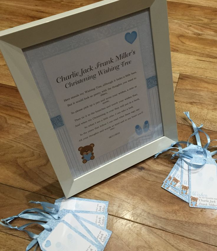 Printable Baby Boy Wishing Tree Kit includes sign and tags (personalized & DIY) by WendysPrintableParty on Etsy