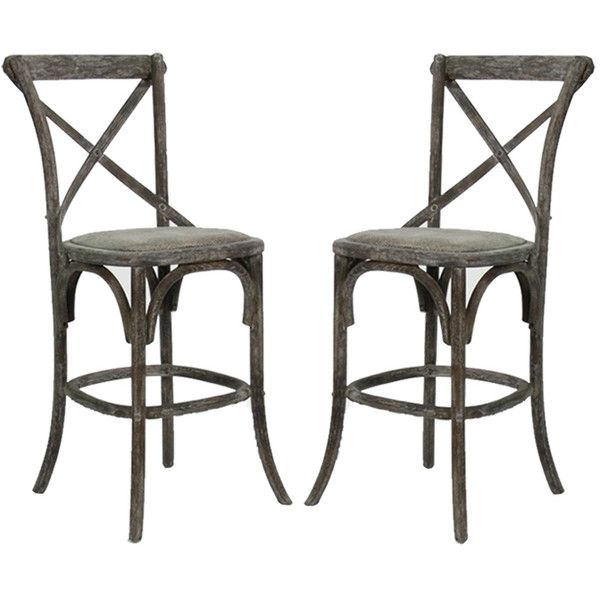 Charcoal French Cafe Counter Stools   Pair (8 220 SEK) ❤ Liked On Polyvore