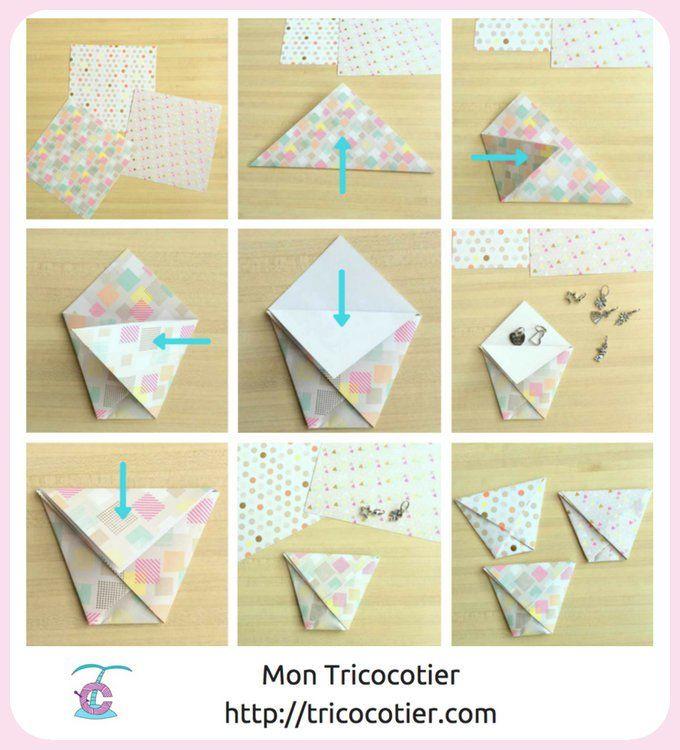 Pratique !!! Un emballage papier original pour vos petits cadeaux ! Tuto en photos pour ce chouette DIY origami http://tricocotier.com