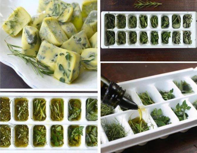 Έξυπνες συμβουλές μαγειρικής - Κυβάκια μυρωδικών φτιαγμένα από τα χεράκια σας! :)
