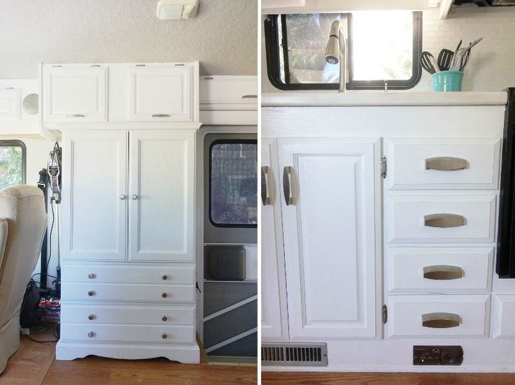 RV Renovation: Painting RV Cabinets & Updating Cabinet Hardware - Hudson and Emily