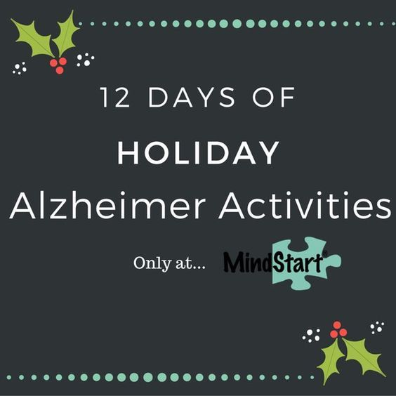 Alzheimer Activities for the Holidays