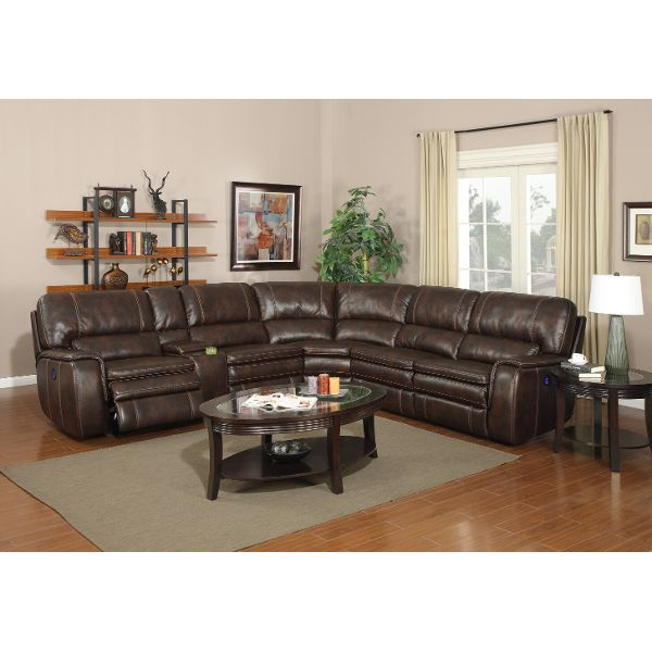 Brown 6 Piece Power Reclining Sectional · Reclining SectionalSectional SofasPower  ReclinersContemporary StyleLiving Room ... Part 67