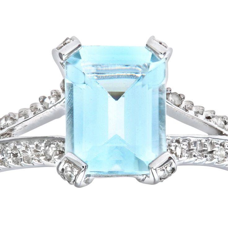 Bijoux pour tous - PR07262W AQ - J - Bague Femme - Or blanc (9 carats) 1.6 Gr - Diamant - Aigue Marine 0.004 Cts #Bague #Bagues #Or #Femme #Bijoux #Blanc #Fiancaille #Perle #Diamant #Mariage #Pierre #Saphir #Emeraude #Joaillerie #Fantaisie #Rubis Opale #Topaze #Anneau #Alliance