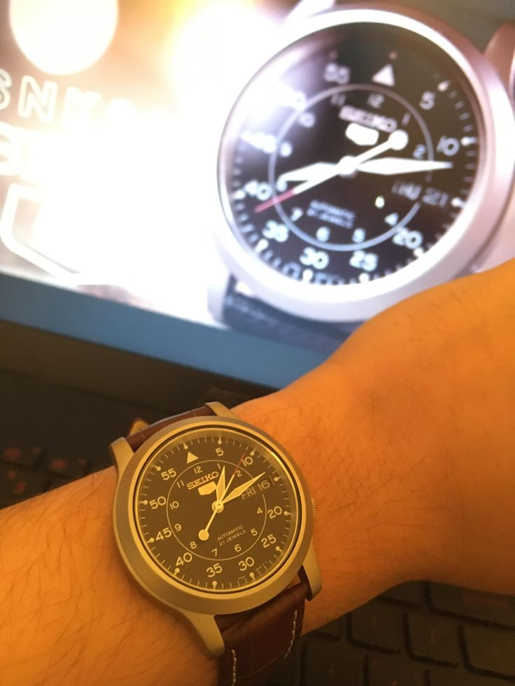 [Seiko] My lovely parents gift to me for my first watch! An SNK809 http://ift.tt/2EOb1Rm
