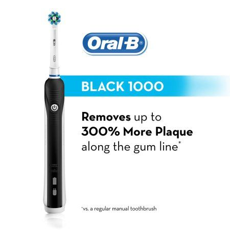 Oral-B Pro 1000 White ($15 Rebate Available) Power Rechargeable Electric Toothbrush Powered by Braun Image 4 of 11