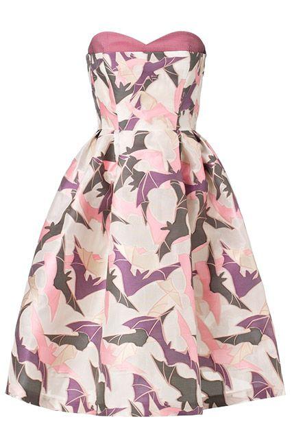 15 Designer Formal Dresses — On Sale #refinery29  http://www.refinery29.com/sale-designer-dresses#slide5  Giles Multi Strapless Bat Gazar Dress, $1,295 (originally $1,850), available at Avenue 32.