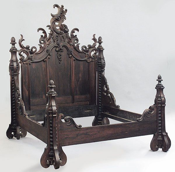 A Fine American Rococo Carved Rosewood Bedroom Set  mid 19th c   Baltimore. 230 best Antique Furniture images on Pinterest   Antique furniture