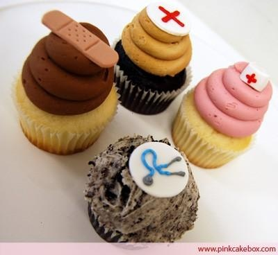 I call the one with the bandaid! I love bandaid cupcakes. Love. LOVE, do you hear me?