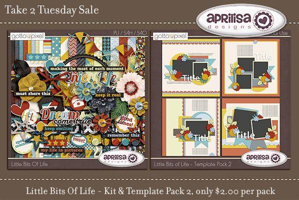 Aprilisa Designs - .  Little Bits Of Life – Kit