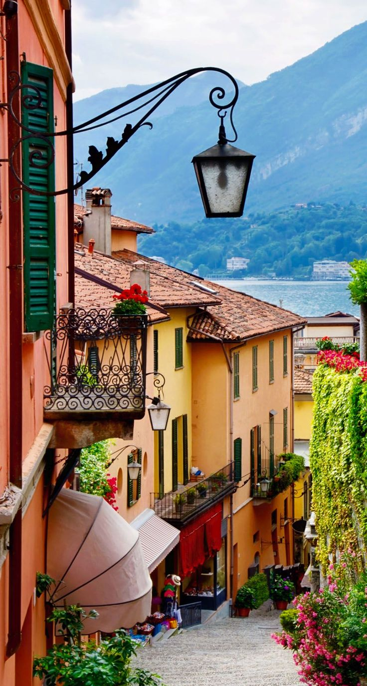 Joseph Abhar - Picturesque small town street view in Bellagio, Lake Como. Italy