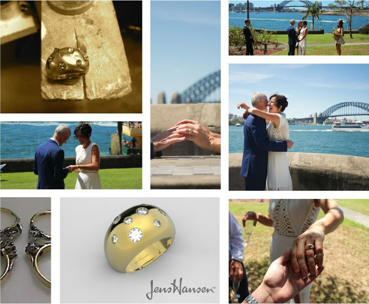MODERNISE YOUR TRADITIONAL FAMILY DIAMONDS  #JensHansenDiamonds Congratulations to Rebecca & Will who are now married! We worked with the couple to handcraft an engagement/wedding ring using a classic Jens Hansen design and Rebecca's very special heirloom diamonds. Visit our blog to read more about their story http://jenshansen.com/blogs/news  And, let us know if you have any heirloom pieces you'd like to modernise.