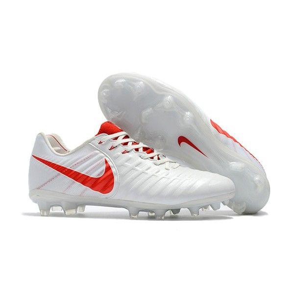 94341a351fd70 Nike Tiempo Legend 7 FG Canguro Botas de Tacos - Blanco Rojo