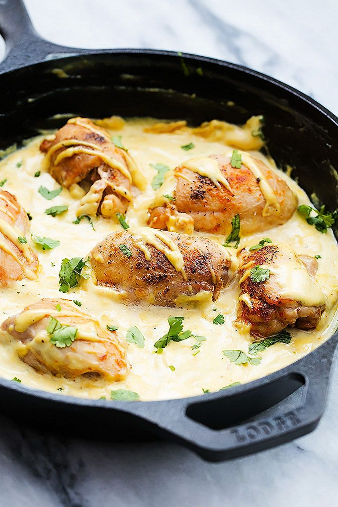 One Pan Skillet Honey Dijon Chicken | Creme de la Crumb