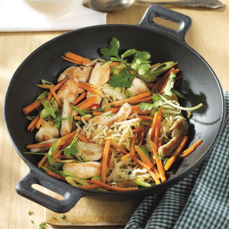 Wokpannetje met kip en taugé | Gezonde Recepten | Weight Watchers