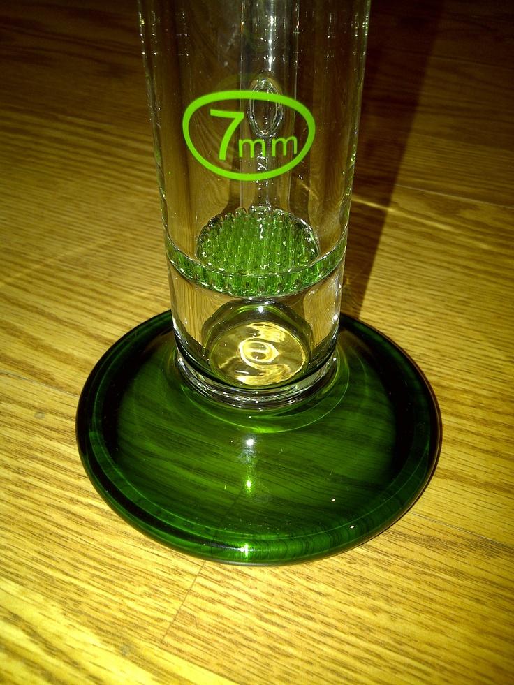 "14"" SINGLE GREEN HONEY COMB  7MM GLASS"