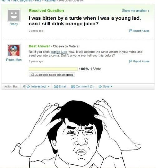 The best funny yahoo answer