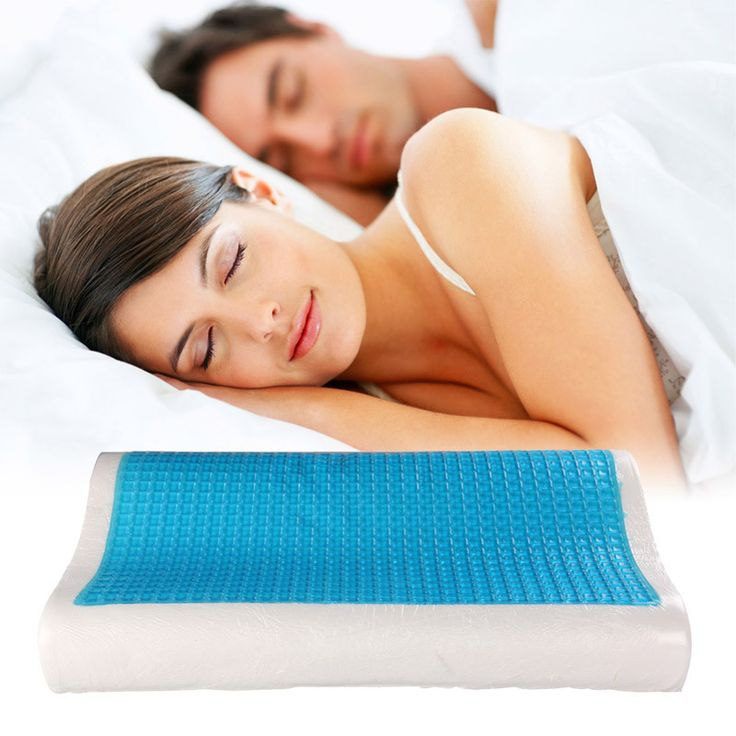 "Orthopedic Memory Foam Gel Pillow 19.7 x 11.8 / 3.9"" x 2.4"""