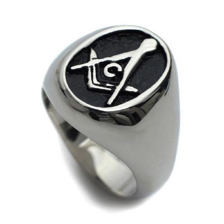 Oval Black Freemason Ring