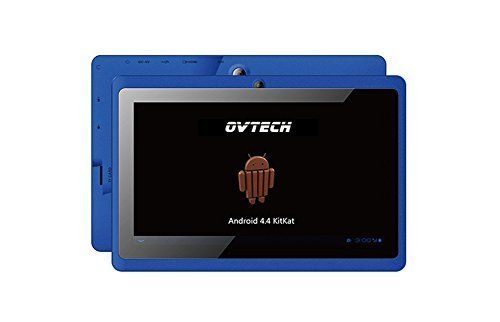 OVTECH Blue 7'Android 4.4 Tablet 1024x600 Quad Core 8GB Dual Camera WiFi Bluetooth. 7' inch Quad Core tablet with HD resolution 1024*600,Android 4.4. Multi Colors:Black,Blue,pink,white,red,choose any color you prefer ,that's easy!. Powered by a 1.2 GHz quad core A33 processor. 8GB of storage and an expandable Micro SD card for storing all your pictures, music, movies and apps. With Google playstore,Numerous apps like Facebook, Twitter, Skype, Youtube, Pinterest etc. within just one touch....