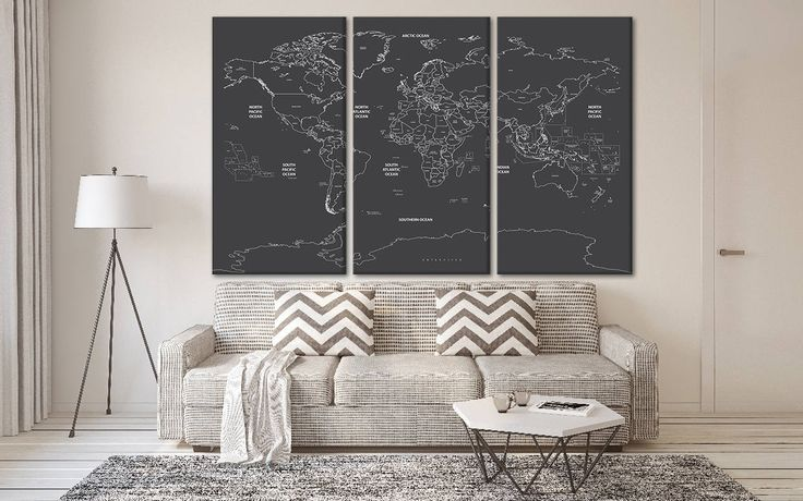 Excited to share the latest addition to my #etsy shop: large world map poster - giant world map canvas - world map wall hanging - map on canvas - map of world canvas - large map of the world http://etsy.me/2jUs3o5 #art #print #giclee #anniversary #independenceday #black #worldmap