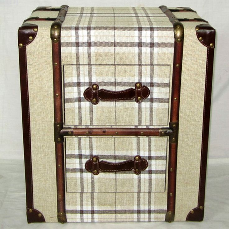 bar trunk furniture. canvas cream check 2 drawer trunk chest or bedside table u2013 allissias attic u0026 vintage french bar furniture s