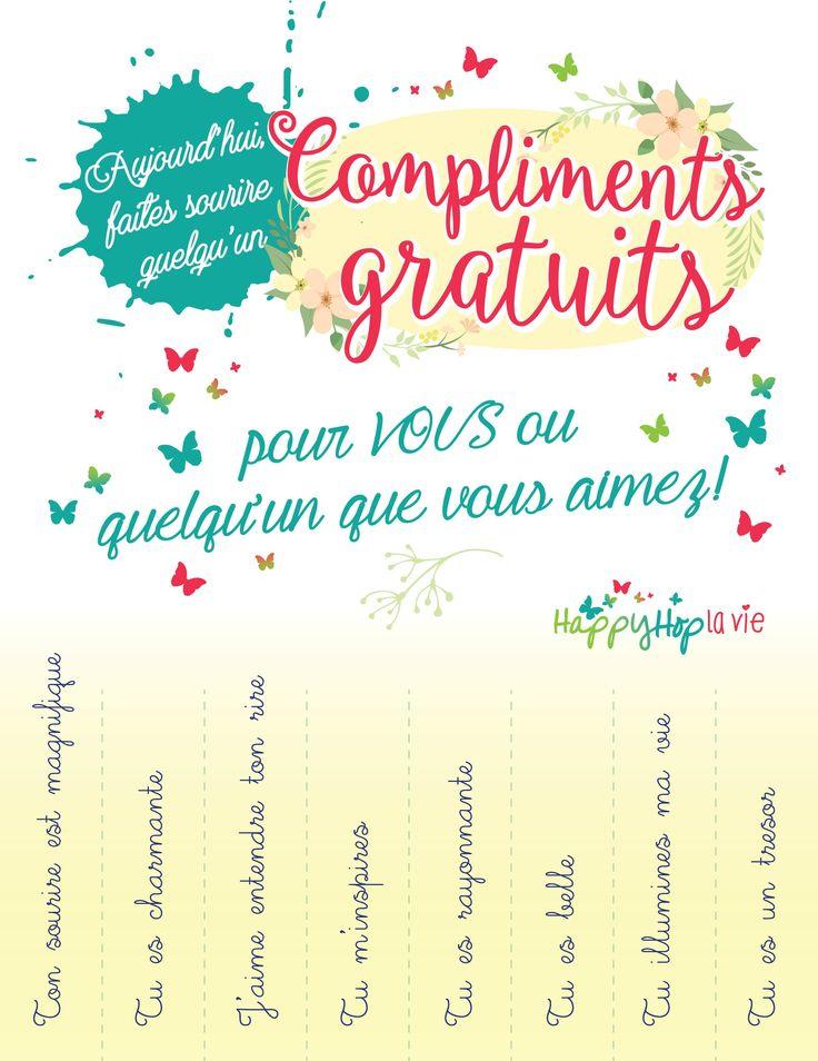 Affiche Compliments gratuits