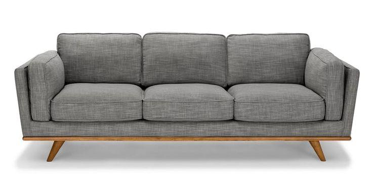 Timber Pebble Gray Sofa
