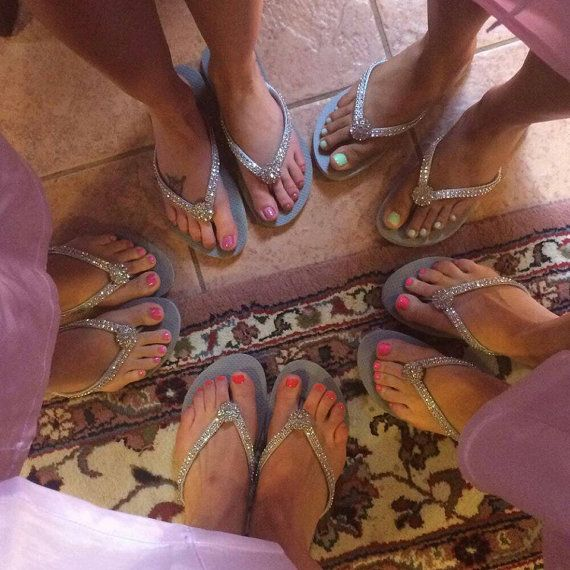 Gris Flip Flops  Dama de honor chanclas  boda gris  novia