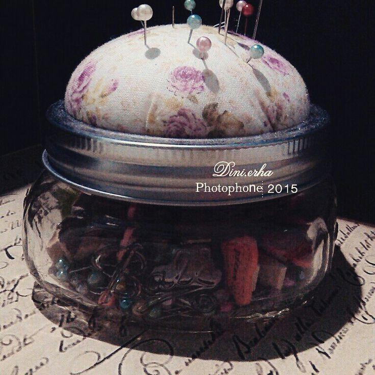 Pincushion jar. My diy project.