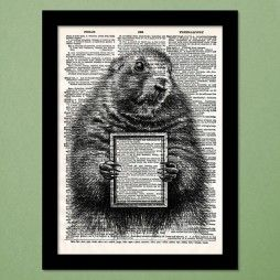 Message Marmot Dictionary Art Print