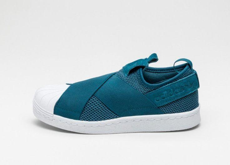 adidas Superstar Slip-On W (Mineral Blue / Mineral Blue / Ftwr White)