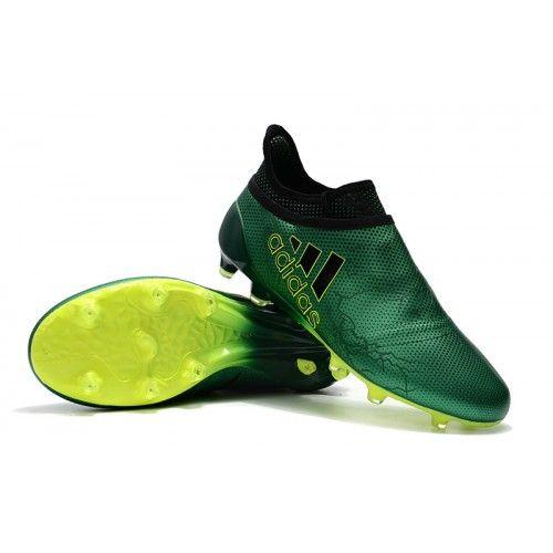980f07f67d5f3 Nuevas Zapatos Futbol Adidas X 17 PureChaos FG Hombre Verdes Fluorescent  Verdes