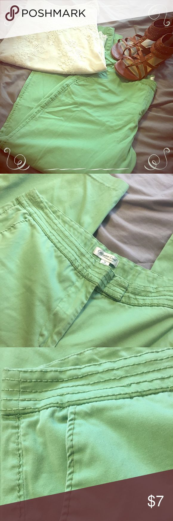 Coldwater Creek Flat Front Mint Pants Size 16.  Beautiful color! Coldwater Creek Pants Boot Cut & Flare