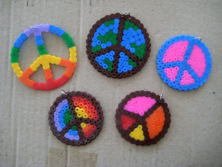 Peace sign perler patterns