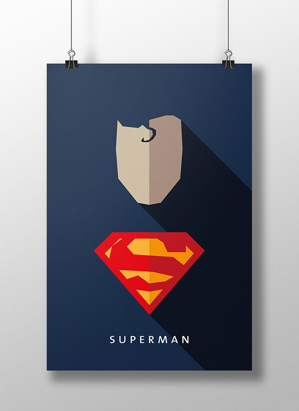 Flat design movie/comic heroes & villains on Behance