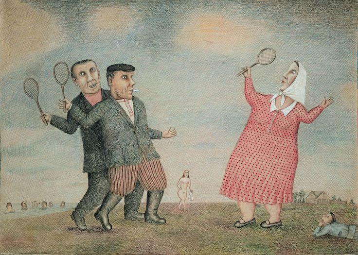 'Badminton' -- by Vladimir Lubarov