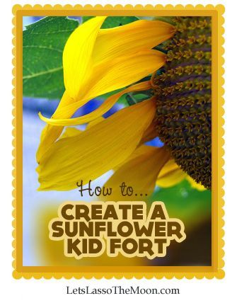 How to Create a Sunflower House *This garden fort is so neat. Saving this for later.