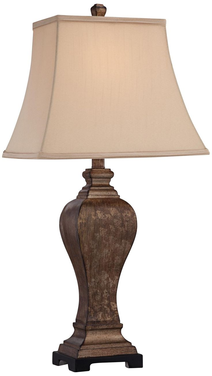 Stacked elephant lamp - Edgar Bronze Transitional Table Lamp