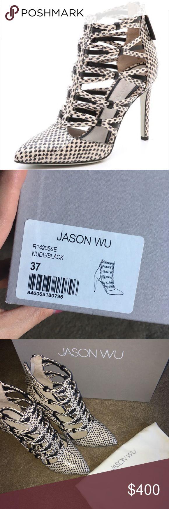 👠 Jason Wu Cages Snake Skin, Nude/Black. 👠 Jason Wu Cages Snake Skin, Nude/Black. Worn once! Comes with box and dust covers! No flaws! Jason Wu Shoes Heels