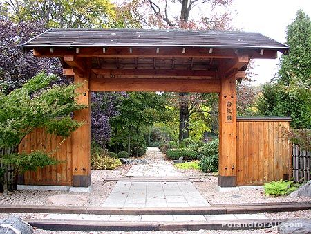 Cool Exterior In Wood Doors River Rock Wall Wood Pergola Roof And Outdoor  Wood Gates For
