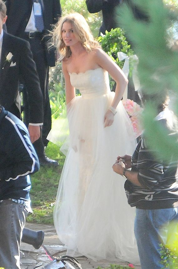 Emily Van Camp in a Wedding Dress