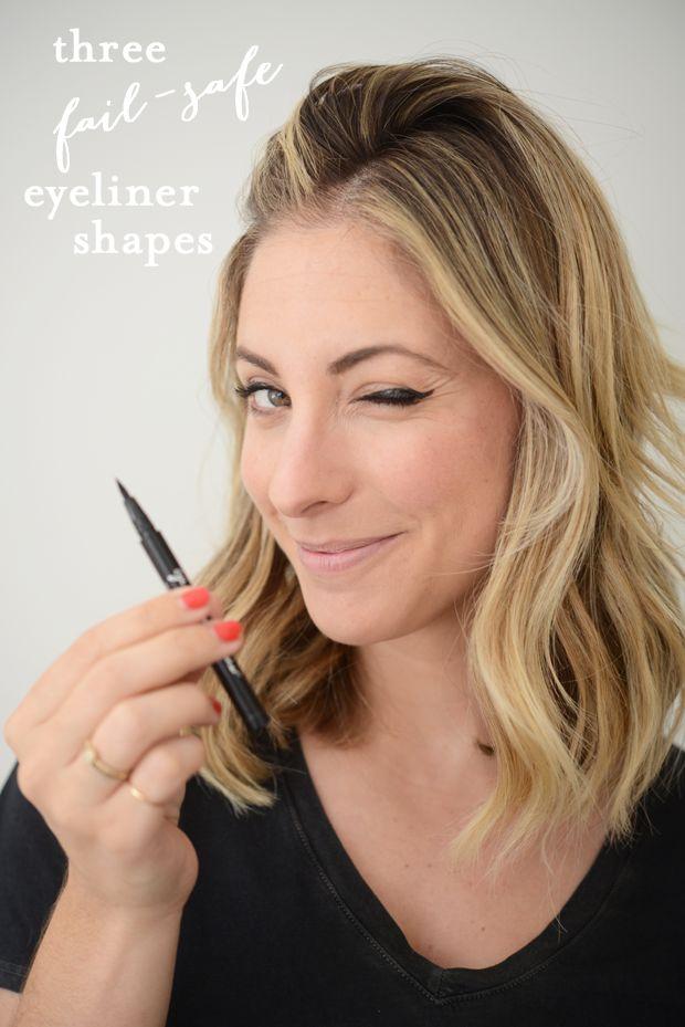 3 Everyday Eyeliner Shapes.