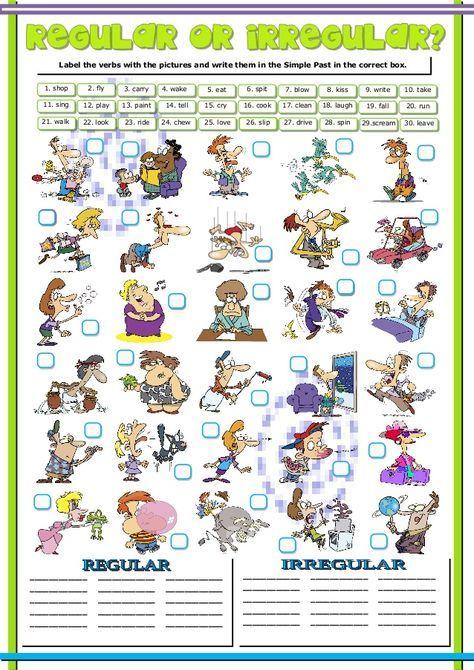 Action Verbs 1 Regular Irregular Simple Past And Present Perfect Irregular Verbs Regular And Irregular Verbs Simple Past Tense