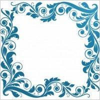 All-free-dowload.  Vintage Floral Frame Vector Illustration