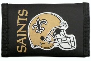 New Orleans Saints Nylon Trifold Wallet by Hall of Fame Memorabilia. $5.89. Images shown may differ from the actual product.