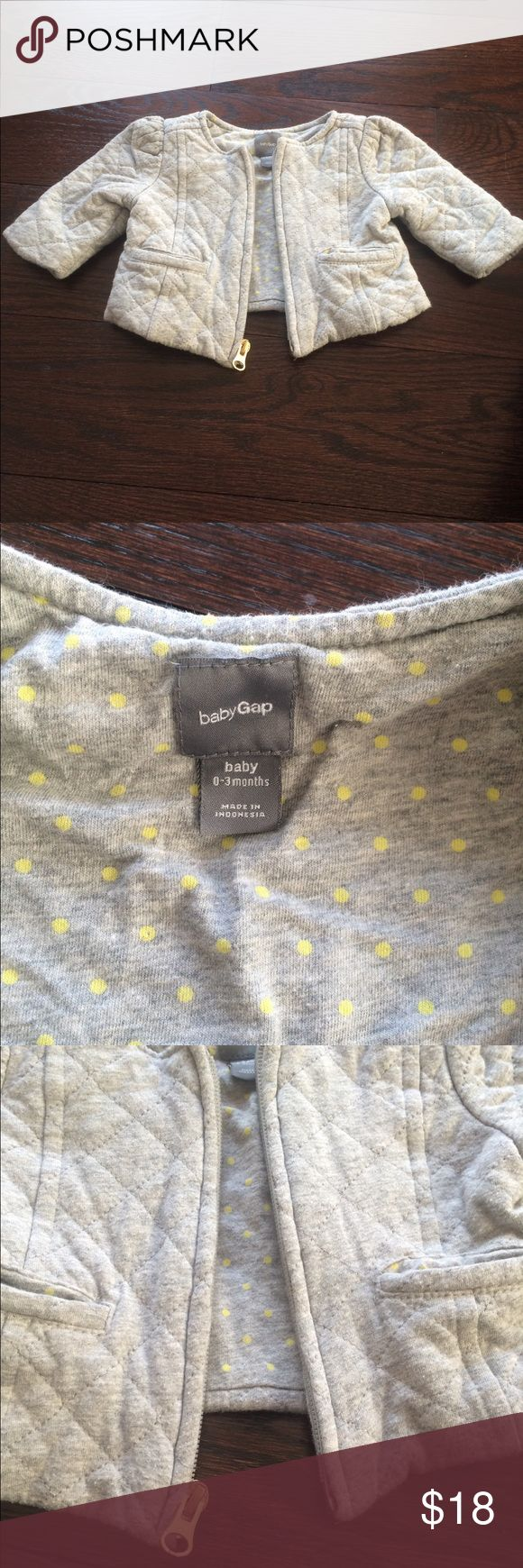 Gap jacket Gap jacket, size 0-3 months, grey color GAP Jackets & Coats