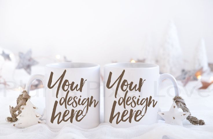 Christmas Styled Stock Mug Mock up, Christmas mockup, 2 Coffee Mugs, His & Hers Mugs, Product Photography, space for quote, white mug by plumspixellove on Etsy