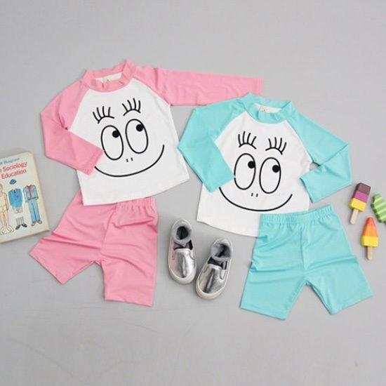 Barbapapa Kids Baby Toddler Rashguard Swimsuit Set Bathing Suit Made In Korea #BarbapapaKoreaKFashionKPOP